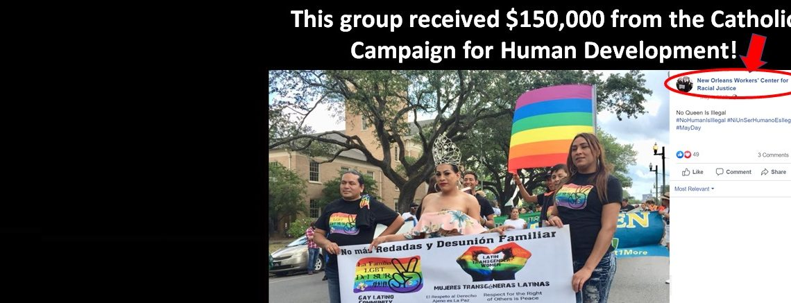 CCHD Grantee Celebrated by US Bishops Caught Indoctrinating Immigrants in Homosexual Activism